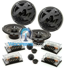 """2 sets SPL AS-60C 6.5"""" COMPONENT SPEAKERS CROSSOVERS TWEETERS BY SOUNDSTREAM NEW"""