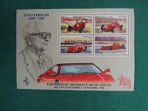 *L68*- FRANCOBOLLO-ENZO FERRARI-ESPOSIZIONE MONDIALE DI FILATELIA- 1998
