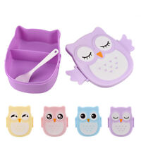Cute Cartoon Owl Lunch Box Food Container Storage Box Portable Bento Box Cases