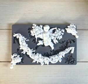 1x Shabby Chic Cupid  French Furniture Moulding Furniture Applique Carving Onlay