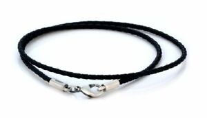 BICO AUSTRALIA 2mm BRAIDED FAUX LEATHER BLACK OR BROWN NECKLACE