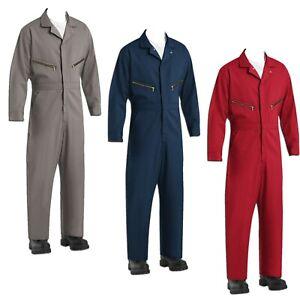 NEW Red Kap Men's Zip-Front Cotton Coveralls Industrial Work Uniform CC18