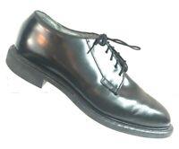 BATES Men's Leather Oxford Black Dress Shoes Uniform Size 8E