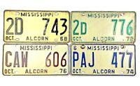 Mississippi 1968 1970s Old License Plate Garage Vtg Car Man Cave PICK-A-PLATE