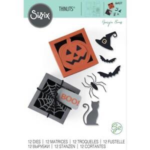 Sizzix Thinlits Die Set by Georgie Evans - Box, Spooky Silhouette - 664577