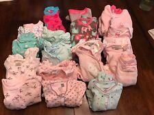 Baby Girl 0-3 Mo. Pajama and Sleepsack Lot (Kissy Kissy, Little Me, Carter's)