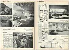 1963 Penthouse In Milan For Giulio Minoletti, Garden Apartment, Design, Plan