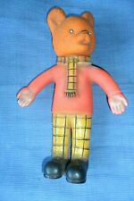 A GREAT VINTAGE RUPERT BEAR PLASTIC FIGURE 27.5 cm high