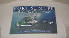 FORT SUMTER National Monument CIVIL WAR SESQUICENTENNIAL T-Shirt MED Charleston