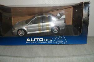 AutoArt 1:18 LANCER Mitsubishi EVO 6 .SILVER GREY.V1. NEW IN BOX.RARE.