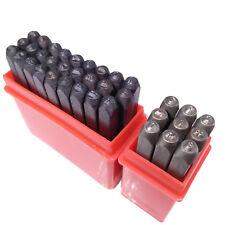 """US Stock 36pcs 5/64"""" 2mm Letter & Number Stamp Punch Set Hardened Steel Metal"""