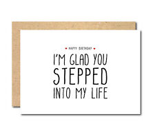 Funny Birthday Card for stepdad stepfather joke funny comedy personalised