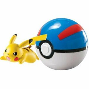 Pokemon Clip n Carry Poke Ball Pikachu and Great Ball