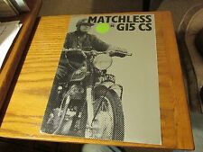 MATCHLESS 750 G15CS SALES  BROCHURE PINUP 1968