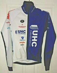 Vermarc UHC Pro Cycling Team Thermal Windproof Jacket Wilier Blue Men's XS