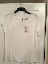 Ladies White Zip Back Top Size 20 By Peacocks Brand New With Tags