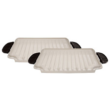 George Foreman GFP84PX Evolve GRILL PLATES, 84 Square Inch CERAMIC PLATES - NEW
