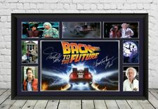 Back To The Future Movie Signed Photo Print Film Autographed Poster Memorabilia