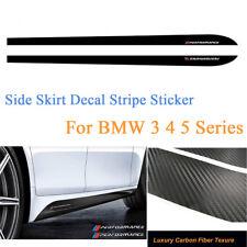 2x 2.15M Sport Performance Carbon Fiber Side Skirt Decal Stripe Sticker for BMW