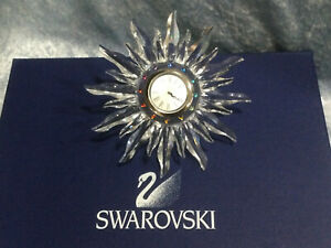 Swarovski Crystal Solaris Table Clock 7481000002 221626. Retired 2004. MINT