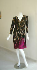 CALVIN KLEIN faux wrap dress size M (10-12) long sleeve