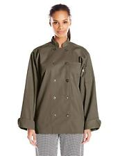 Uncommon Threads Women's Orleans Chef Coat, Olive, Xs