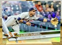 2017 Topps Chrome YULIESKI GURRIEL Rookie REFRACTOR #124 Houston Astros RC