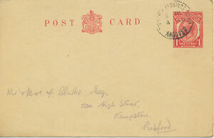 GB TIDWORTH PENNINGS CAMP / ANDOVER POSTMARK-ERROR: NO YEAR; early usage of PC