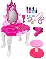 Kids Vanity Table Pretend Play Set Cosmetic Makeup Hair Toddler Girl Toys Gift