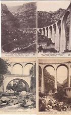 Lot 4 cartes postales anciennes GORGES DU LOUP le viaduc