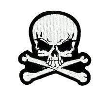 Patch toppe toppa ricamate biker skull teschio pirati pirata moto fiamme r2