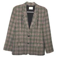Vintage Pendleton Blazer Jacket Women's Size 12, Plaid, 100% Virgin Wool