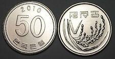 2010 South Korea 50 Won Coin BU Very Nice  KM# 34
