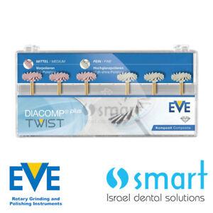 Dental Eve Diacomp Plus Twist RA 342 composite polishing diamond system EVE 14mm