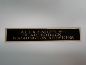 Alex Smith Redskins Autograph Nameplate For A Football Jersey Display Case 1.5X6