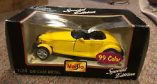 1997 Plymouth Prowler Maisto '99 Yellow 1:24 Die Cast Metal with Plastic Parts