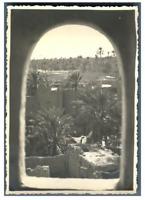 Algérie, Biskra (بسكرة), Sidi Okba. Vue du Minaret  Vintage silver print Tirag