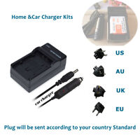 AC+DC Battery Charger for Sony CyberShot BP-BG1 NP-BG1 NP-FG1 NP-FBG1 Camera