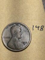 1913-S LINCOLN WHEAT CENT, rare date, #148