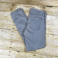 7 For All Mankind THE SKINNY Light Gray Lowrise Ankle Jeans Size 26x26 Stretch