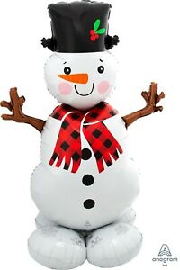 Airloonz Snowman Large Supershape 1.39 mtrs over 4 feet Tall Air Fill