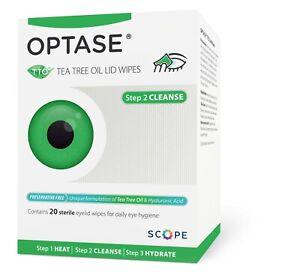 OPTASE Tea Tree Oil Eye Lid Wipes – 20 wipes