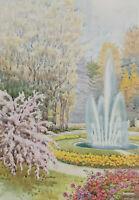 Signiert M Marten - La fontana