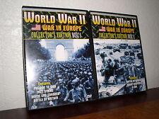 World War II - War in Europe Collector's Edition Disc 1 & 2 (DVD,2003)