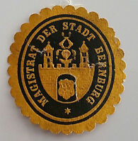 Siegelmarke Vignette Magistrat der Stadt Bernburg (7344)