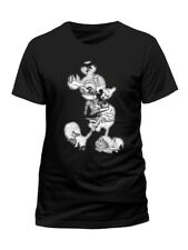 Mickey Mouse Infill Official Disney Mickey & Minnie Black Men T-shirt