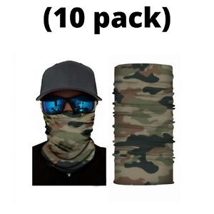 (10 pack!!) Face Mask Balaclava Tube Bandana Neck Gaiter Scarf Reusable Washable