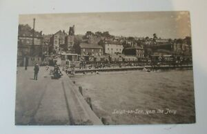 VINTAGE REAL POSTCARD LEIGH ON SEA FROM THE JETTY 1930.s