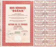 """SCRIPOPHILIE / BOIS DEROULES """" OCEAN """" / ACTION BOURSE"""