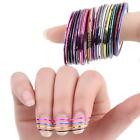 10/30Pcs Mixed Colors Rolls Striping Tape Line Nail Art Tips Decoration Stick JL